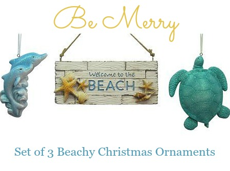 Welcome to the Beach Christmas Ornament