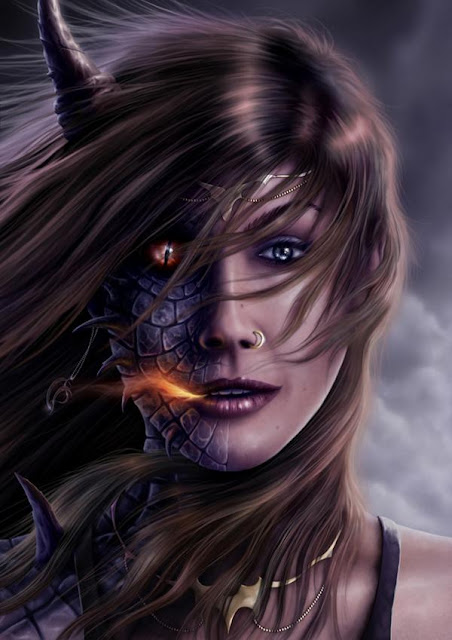 Mulher dragão, dragoes do abismo, corpos artificiais