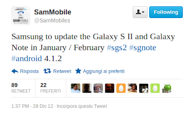 jelly bean announcement for galaxy s2 and galaxy note