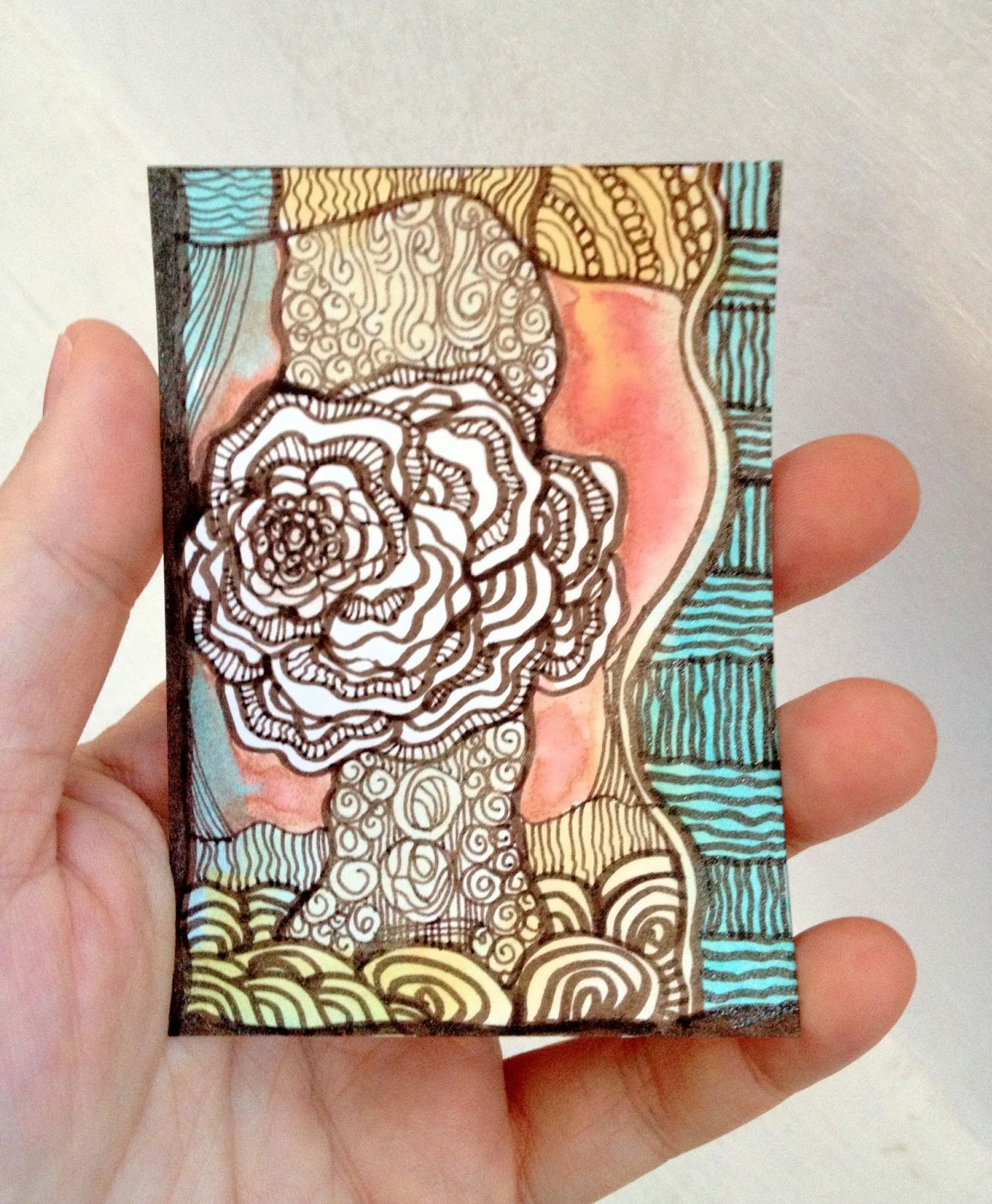 art therapy spot artist trading cards atc s