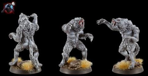figurine 28mm loup garou