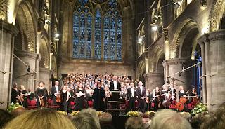 Salutations à la fin du Requiem de Verdi, Hereford Cathedral, Katherine Broderick, Catherine Wyn-Rogers, Geraint Bowern, Gwyn Hughes, Alastair Miles