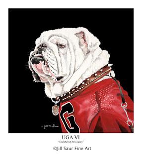 UGA VI painting, Jill Saur