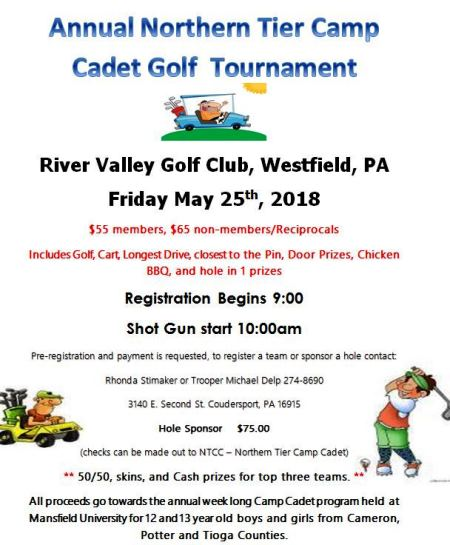 5-25 Northern Tier Camp Golf Tournament