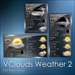 rainmeter weather skin