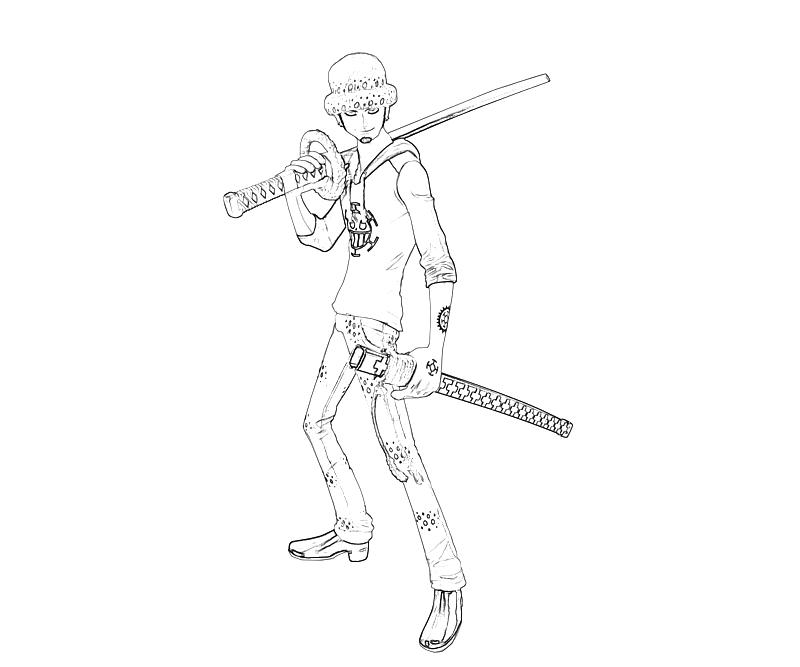 printable-one-piece-trafalgar-law-weapon-coloring-pages