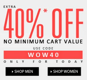 Jabong : 40%  off coupon code