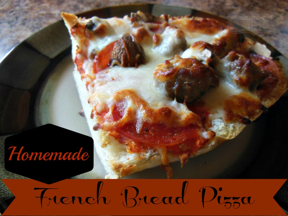 how to make homemade french bread pizza