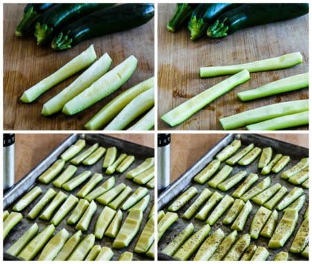 Parmesan Encrusted Zucchini Recipe found on KalynsKitchen.com