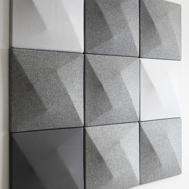 Wall Soundproofing Material : Modern sound absorbing panels design by