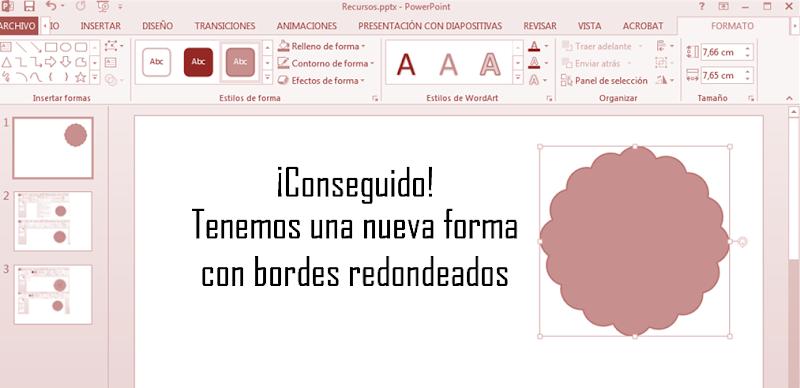 Dibujar con Powerpoint tutorial banner contorno redondeado