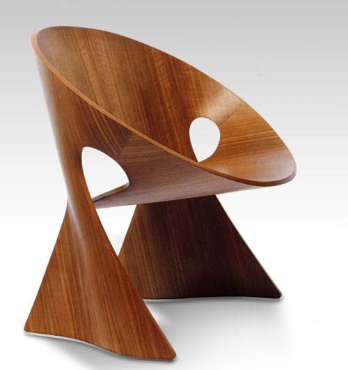Mobius wood chair design unique and contemporary best for Modern wood furniture