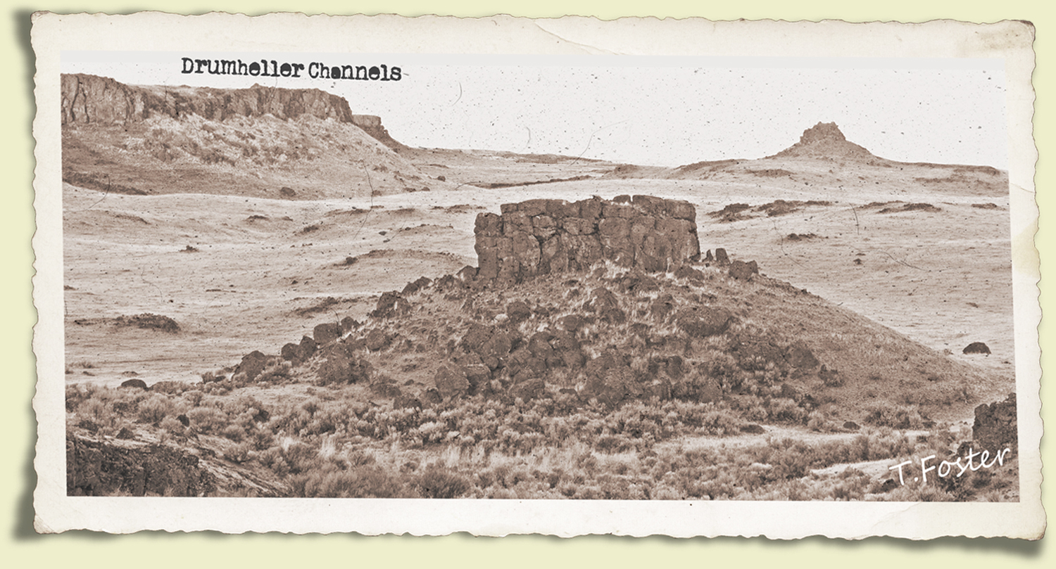 The Channeled Scablands of eastern Washington.