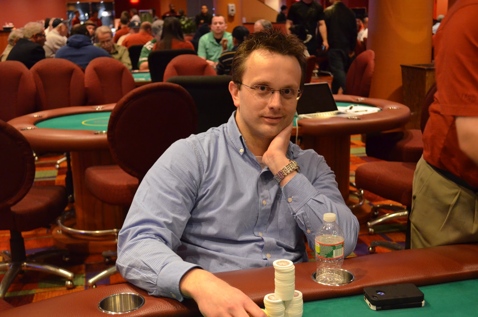Parxbigstaxii big stax 300 day 3 2nd place chapman 35 605 for Parx poker room live game report