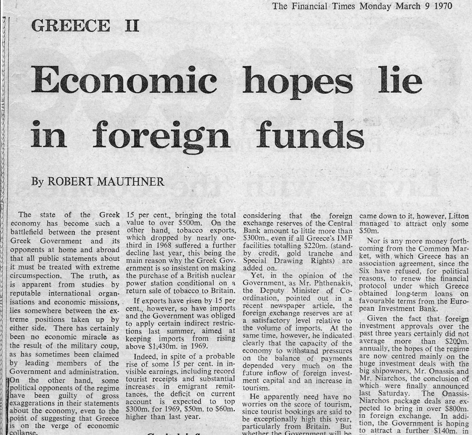 article on economy