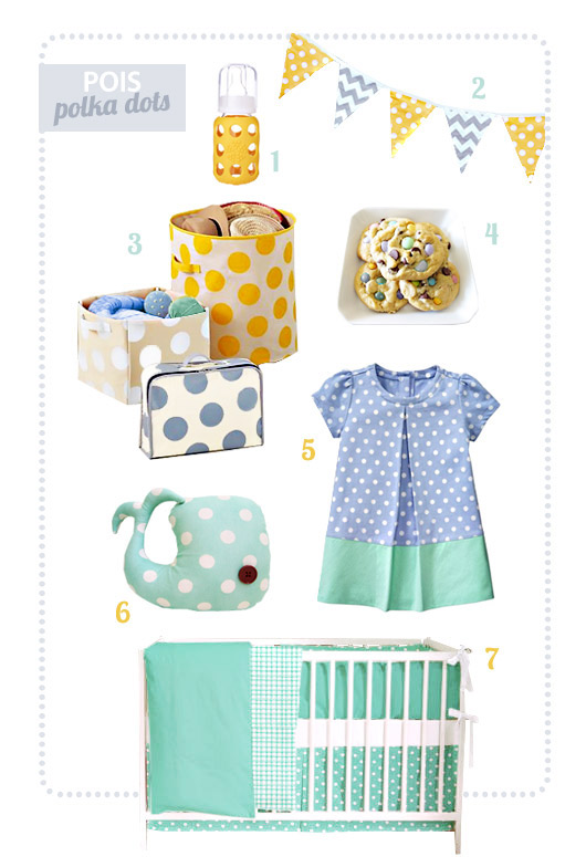 polka dots theme for babies and kids