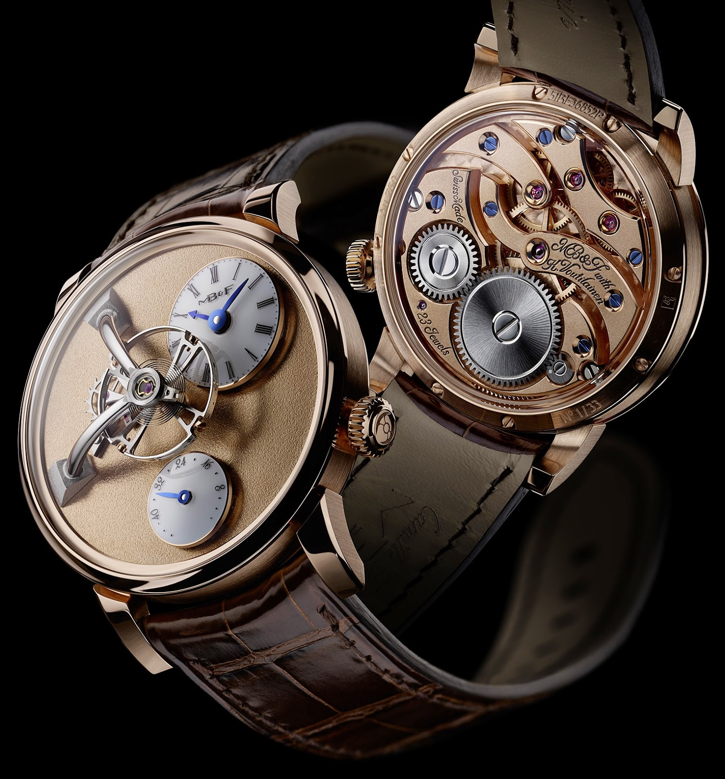 Montre MB&F Legacy Machine 101 Frost or rouge