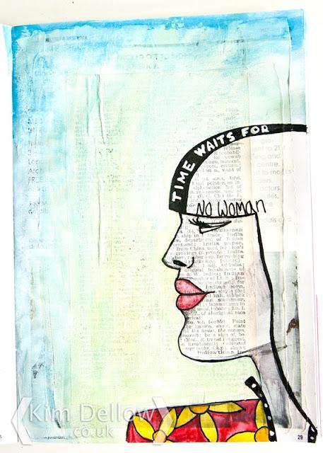 Kim Dellow profile of a women close up