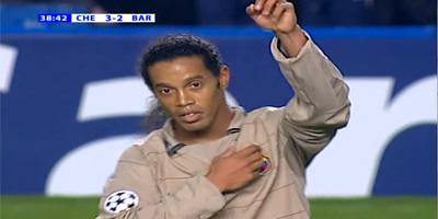 Classic UEFA-16 : Chelsea 4 vs 2 Barcelona 08-03-2005