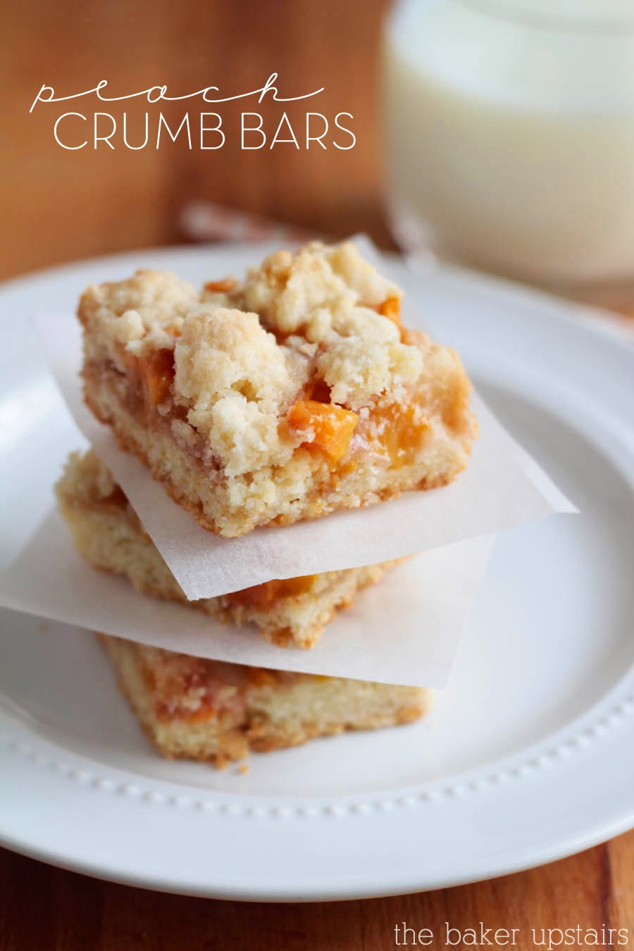 the baker upstairs: peach crumb bars