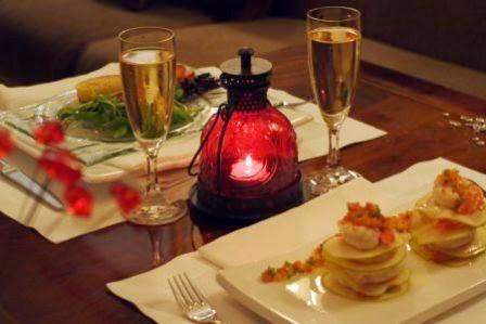 Chic e ventos diy for Cena romantica que cocinar