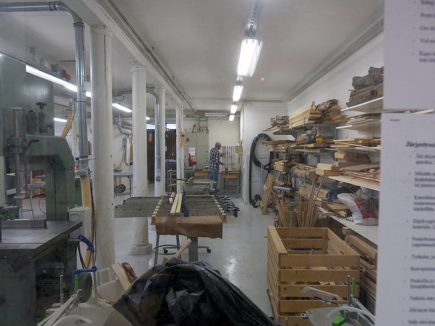 Senior-slöjdgruppens verkstad i Vasa