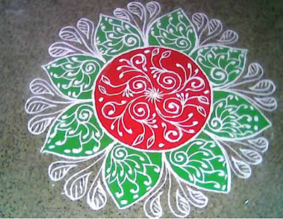 images, telugu muggulu for Asian, Diwali Rangoli Pictures with colours