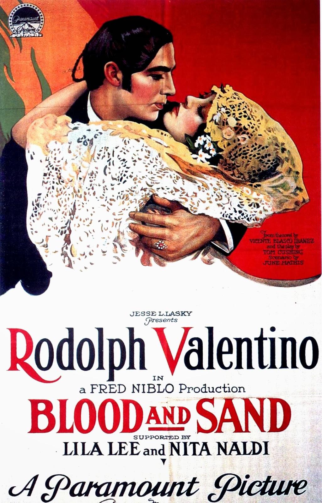 Cartel de la película de 1922 : Sangre y Arena