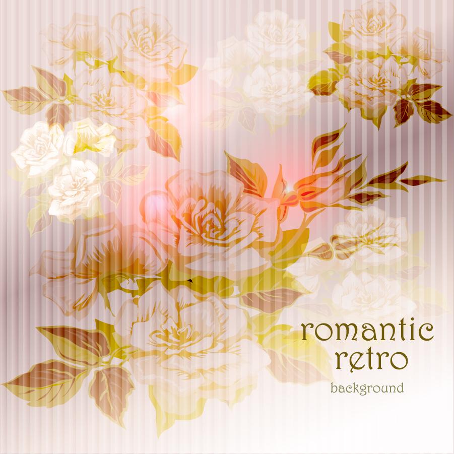 陰影ある美しい花の背景 beautiful flowers shading background イラスト素材