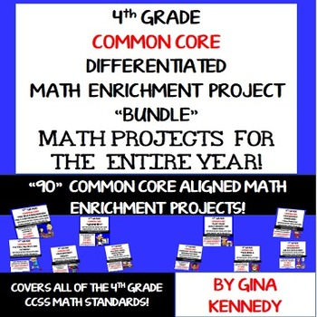 4th Grade Common Core Math Projects To Use All Year! All Standards!