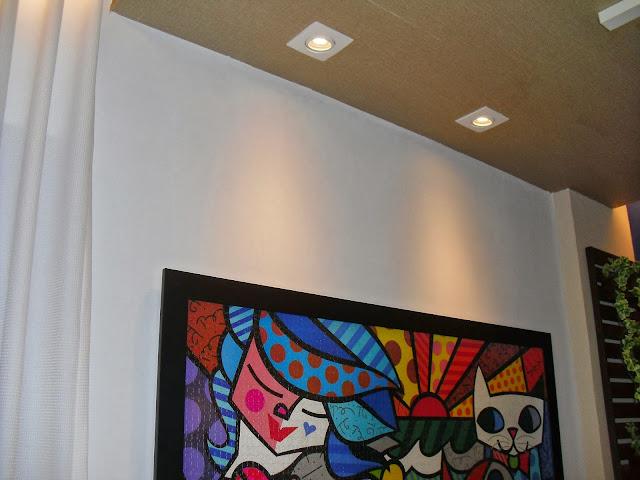 luminárias tipo spot - sala de leitura Senac - Santos Arquidecor 2013