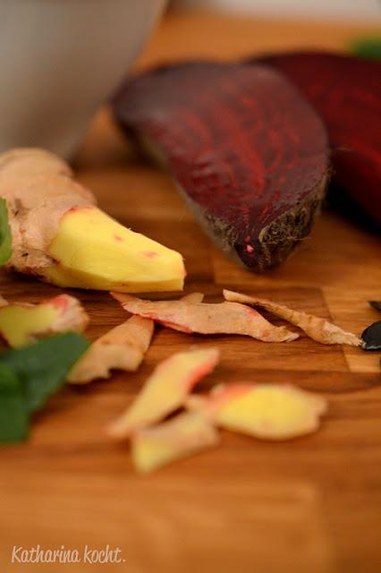 Rote Bete Ingwer Minze Kürbiskerne Macadamia-Öl