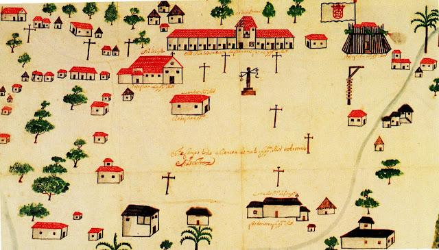 Croquí de Fortaleza, Ceará, aproximadamente 1730