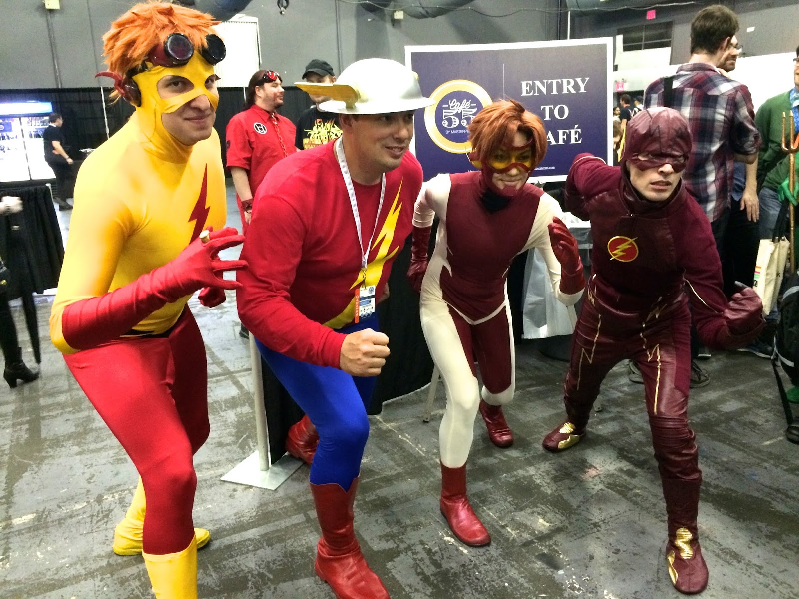 Special Edition NYC cosplayers The Flash group