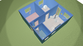 Casa modelada no 3ds max