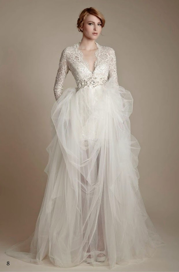 Long Sleeves Church Wedding Gowns