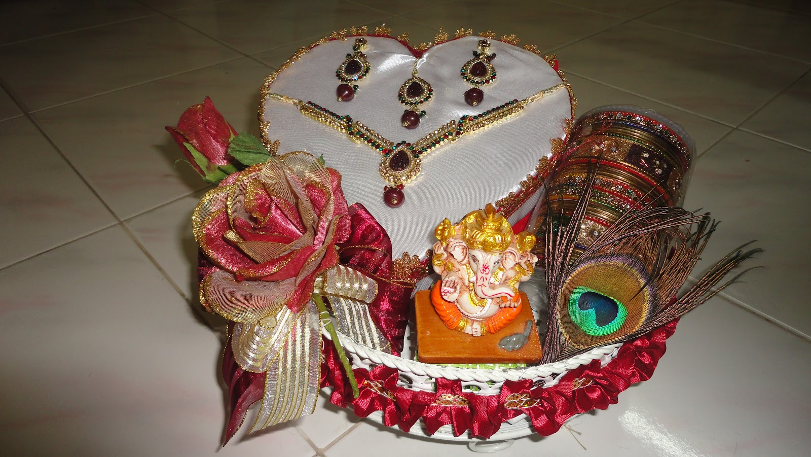 Shivanggi engagement tray decoration for Decorate pictures
