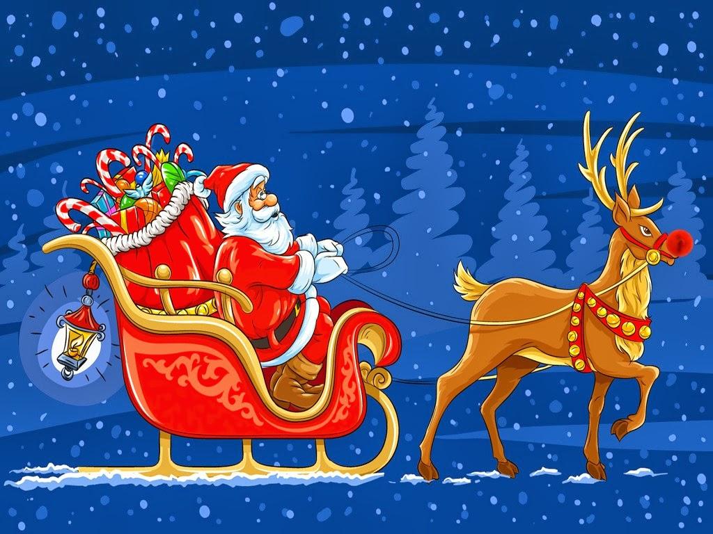 santa and reindeer santa and rudolph rudolph rudolph the - Reindeer And Santa