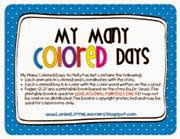 lanie 39 s little learners my many colored days. Black Bedroom Furniture Sets. Home Design Ideas