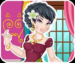 Trang điểm cho công chúa, game ban gai