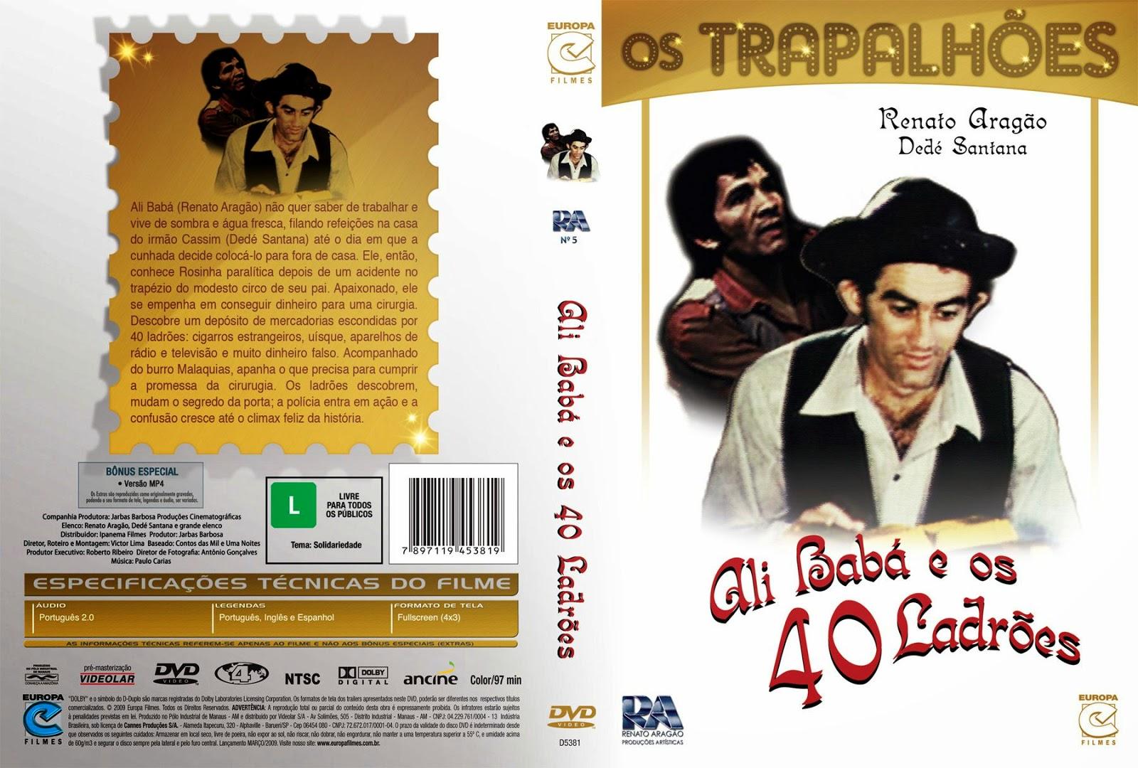 Capa DVD Os Trapalhões Ali Babá E Os 40 Ladrões