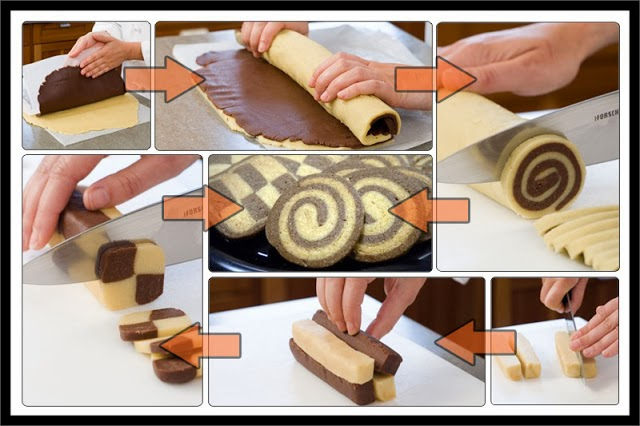 DIY Pinwheel and Checkerboard Cookies