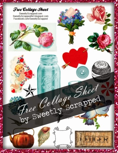 Free Digital Collage Sheet