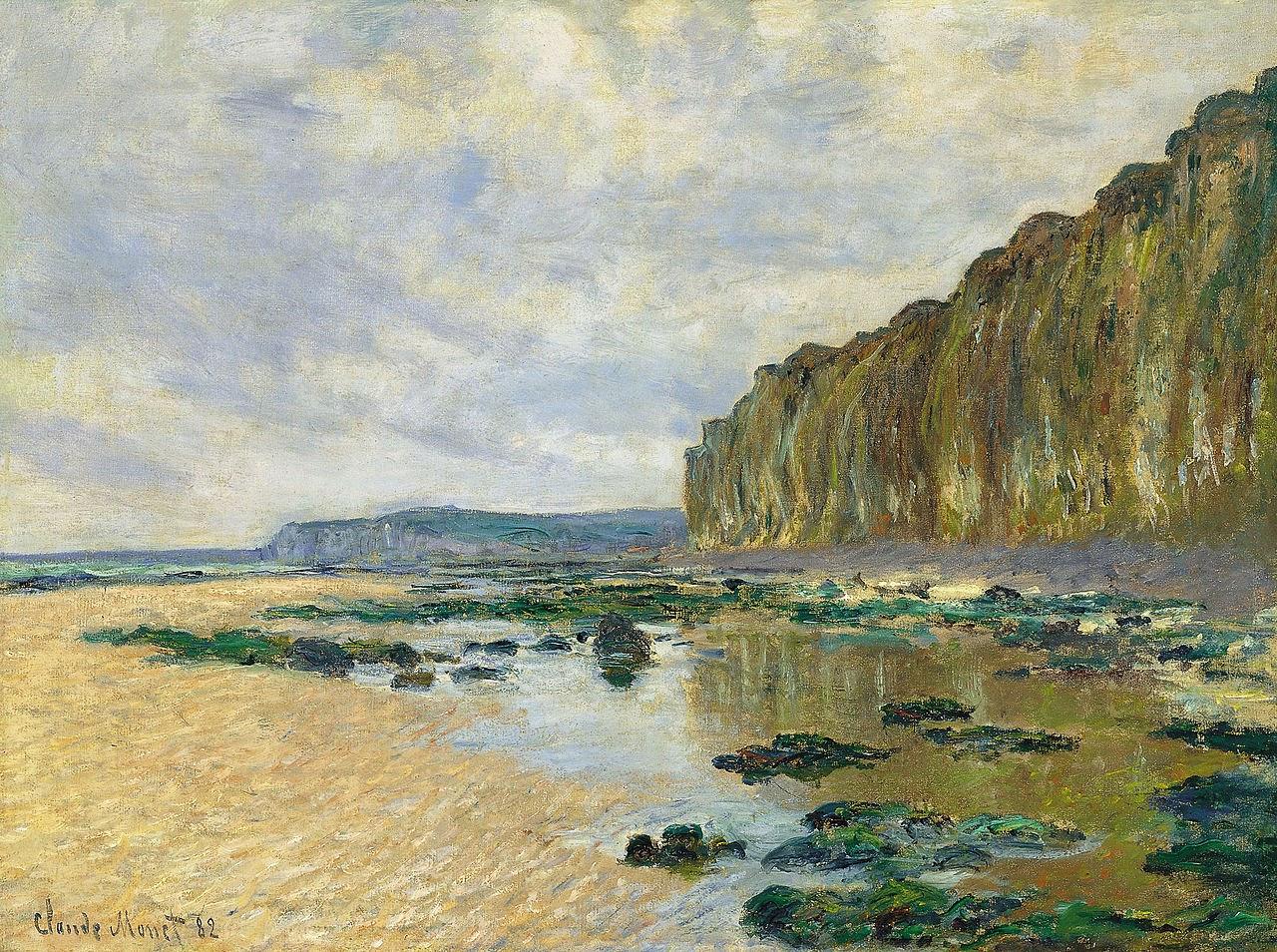 Marée basse devant Varengeville (1882)