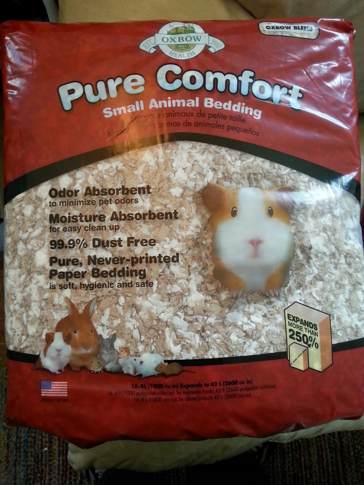Cavy Savvy A Guinea Pig Blog Product Review Oxbow Pure fort