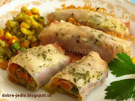 Zapekaná zelenina v šunke - recepty