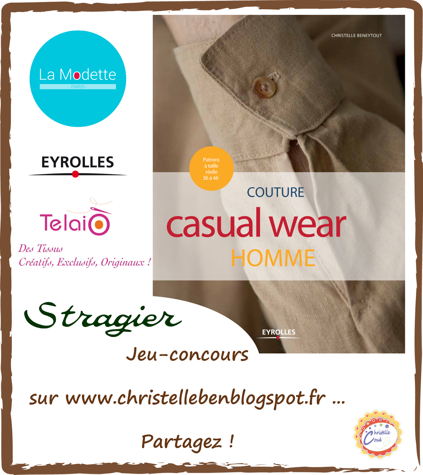 giveaway livre Couture Casual Wear Homme