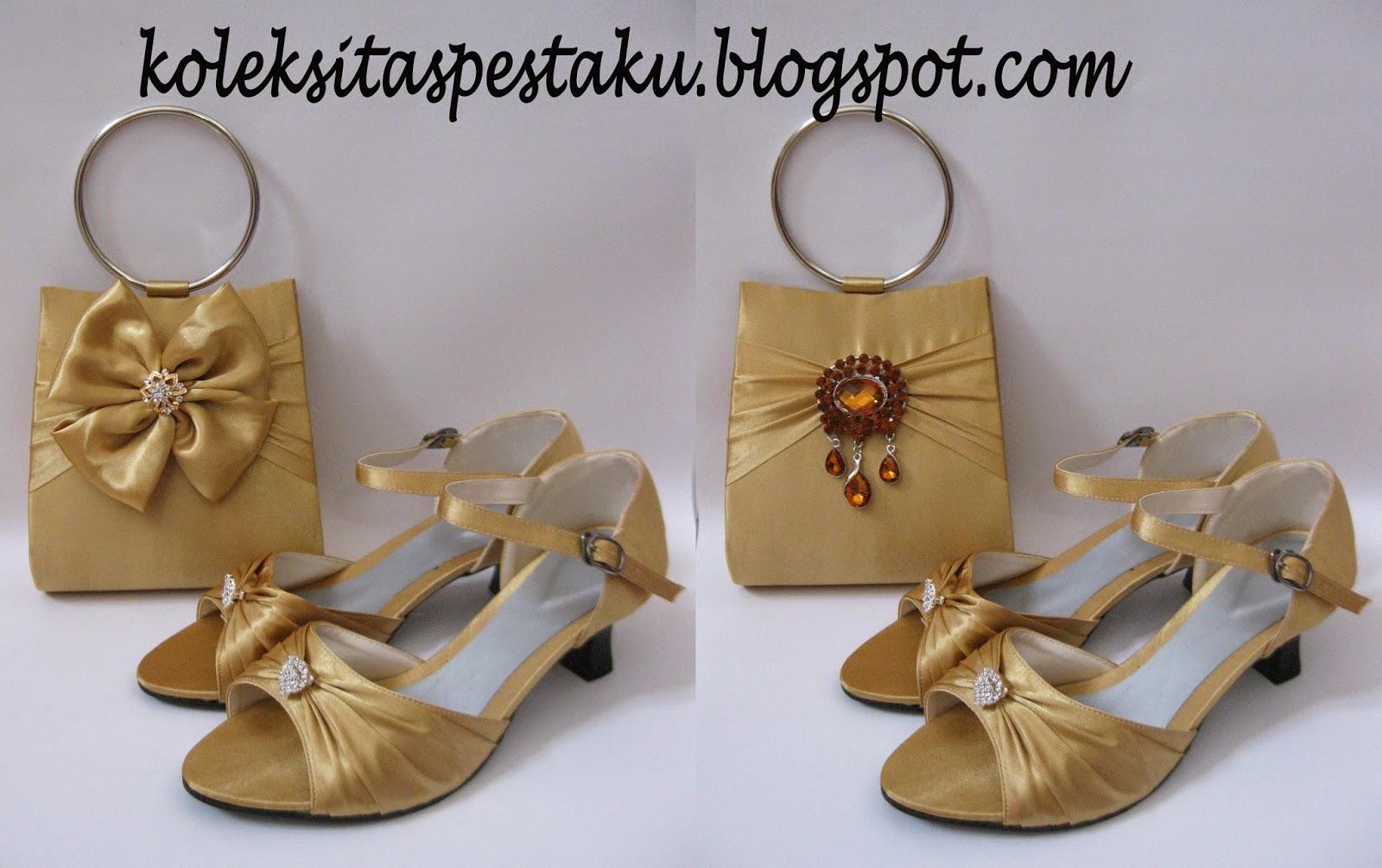 Gold Cantik dan Matching Tas Pesta Sepatu