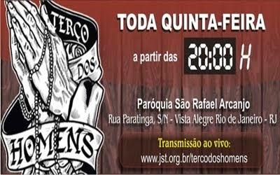 TERÇO DOS HOMENS DA PARÓQ.SÃO RAFAEL ARCANJO DE VISTA ALEGRE-RIO - É BASTANTE ATIVO E PARTICIPATIVO