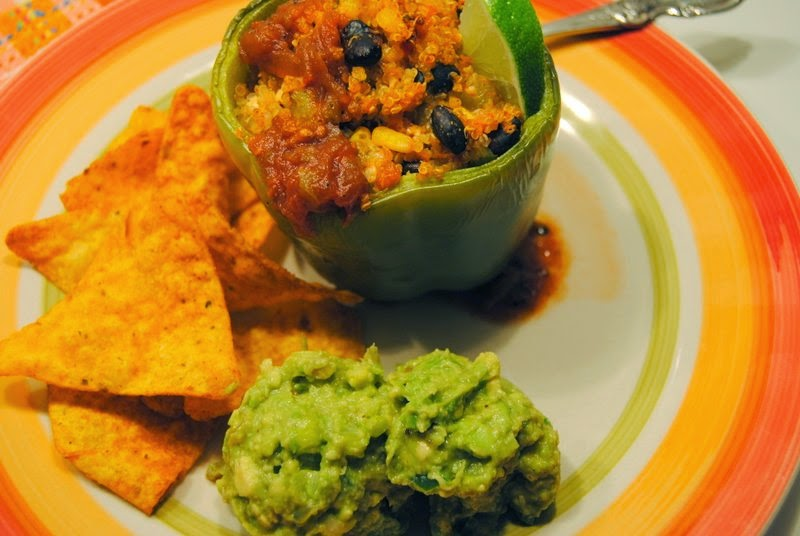 Southwest Quinoa Stuffed Peppers at Miz Helen's Country Cottage